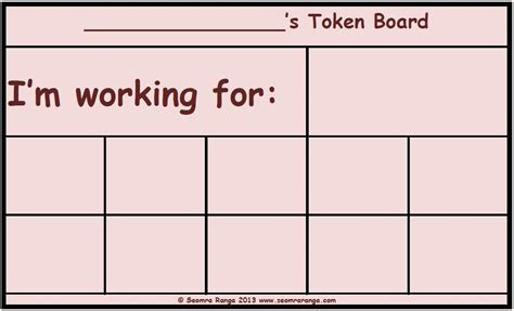 token board template token board 02 seomra ranga