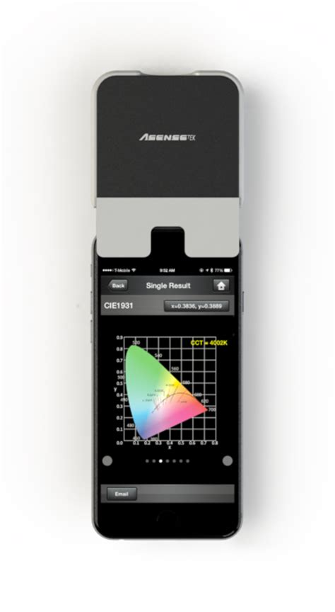 lighting passport smartphone spectrometer