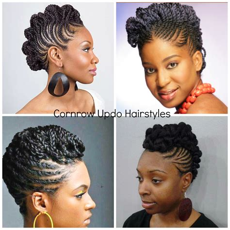 Cornrow Updos Hairstyle by Cornrow Updos For Hair Updo Styles Hair