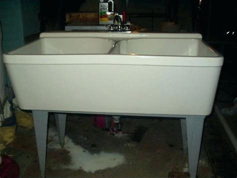stainless steel freestanding laundry sink stainless steel utility sink freestanding in x white