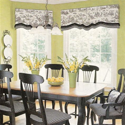 Black And White Toile Kitchen Curtains by Grey Toile Window Treatment