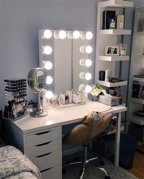 Bedroom Makeup Vanity With Lights Ikea by ᒪoveandloubs Home Decoration