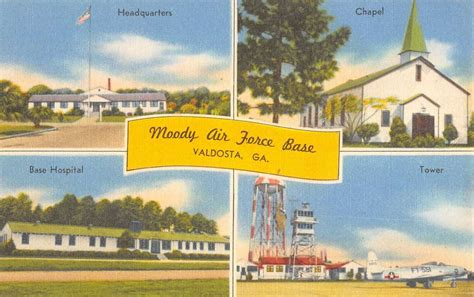 gold house nahunta ga valdosta georgia moody air force base multiview linen antique postcard k20066 mary l