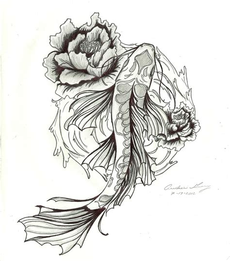 tattoo koi drawing a koi tattoo design by missanastasia11 on deviantart