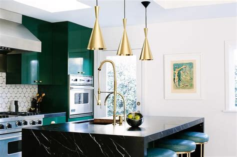 Waterfall Kitchen Faucet Black Marble Waterfall Island Countertop Contemporary