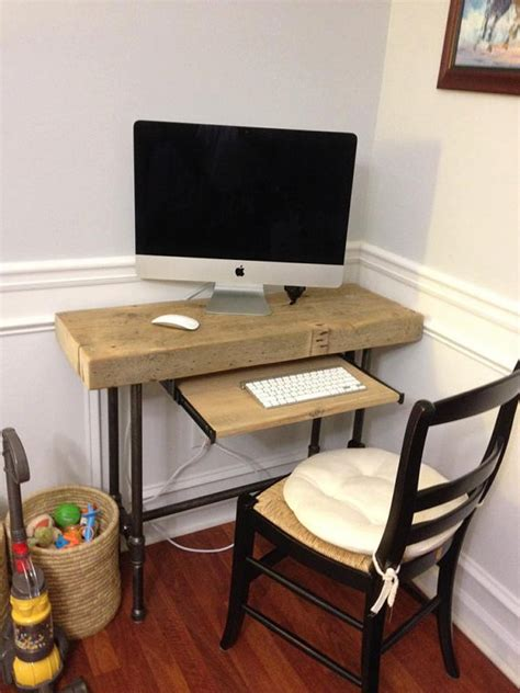 Small Urban Laptop Computer Desk Reclaimed Wood W By Mini Laptop Desk