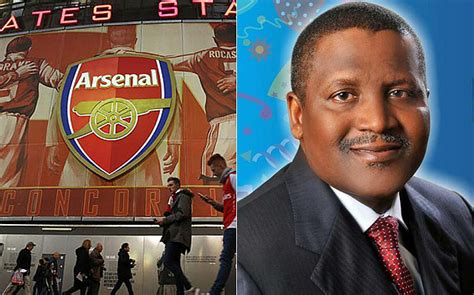 nigeria aliko dangote says still interested in buying arsenal f c medafrica times