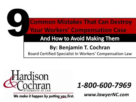 Ca Workers Comp Search Carolina Workers Compensation Guide 9 Common Mistakes That Ca