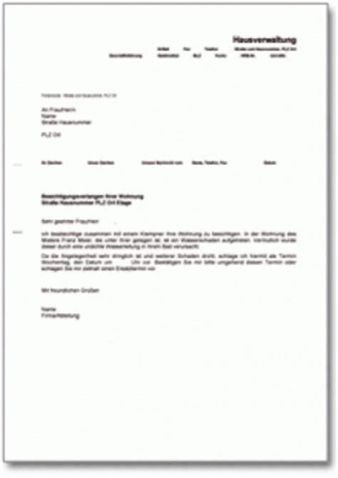 Musterbrief Bewerbung Mietwohnung Musterbriefe