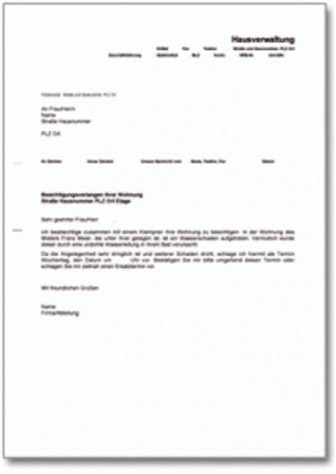 Wohnungsbewerbung Brief Musterbriefe