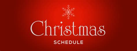 christmas schedule 2015 st andrew and st margaret of