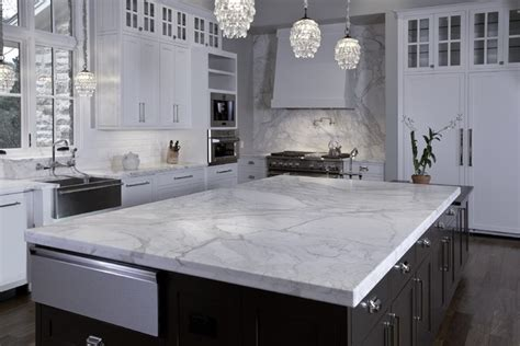 Marble Kitchen Countertops Artisan Collection Granite Island In Calacatta Gold Marble Contemporary