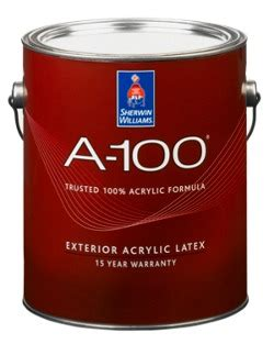 a 100 174 exterior acrylic paint contractors - Sherwin Williams A100 Exterior Paint