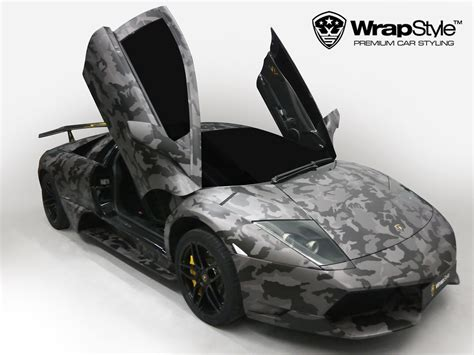 red camo lamborghini wrapstyle premium car wrap car dubai chrome