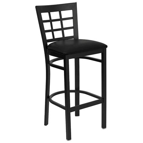 Quality Bar Stools by Metal Window Back Barstool