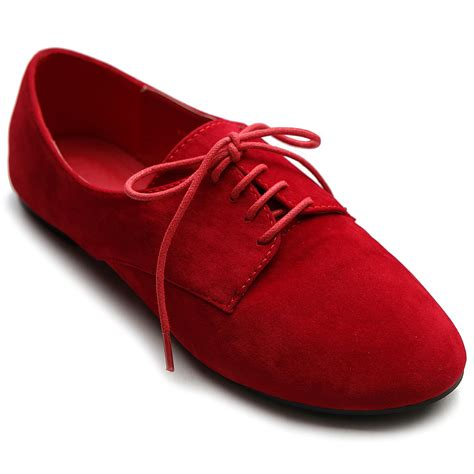 oxford flats shoes ollio womens ballet flat loafers faux suede oxford lace