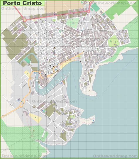 map of porto large detailed map of porto cristo
