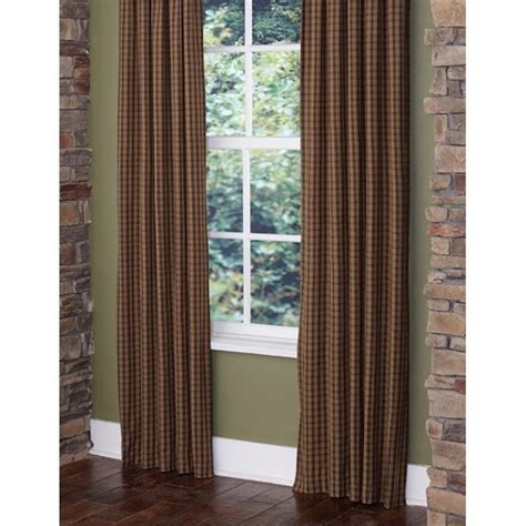 Cabin Check by Country Cabin Check Drapes