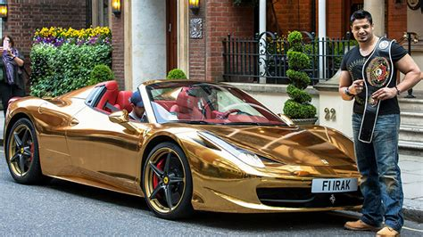 ferrari gold the gold supercars of london gold blog