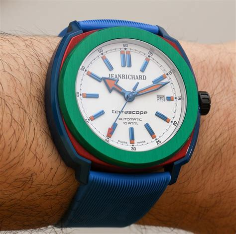 colorful watches jeanrichard terrascope aluminum in primary colors