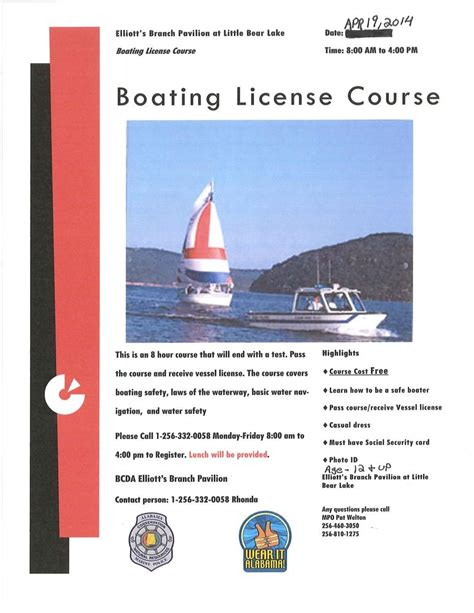 boating license requirements alabama reserves franklin county al sheriff s office