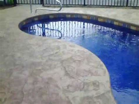 guide  stamped concrete  fiberglass pools youtube