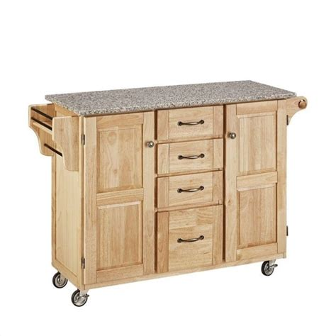 natural finish granite top kitchen island cart natural wood island cart with salt and pepper granite top