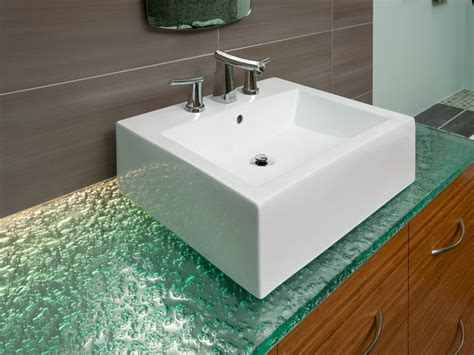 glass countertops bathroom images