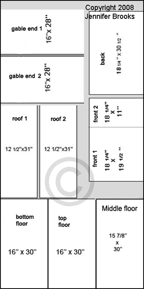 Free Dollhouse Floor Plans by Doll House Building Plans 171 Floor Plans
