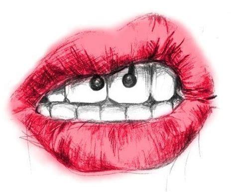 imagenes tumblr labios dibujo de labios piercing labios rojos arte
