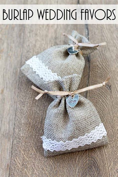 wedding favor burlap bags burlap wedding favor bags the country chic cottage
