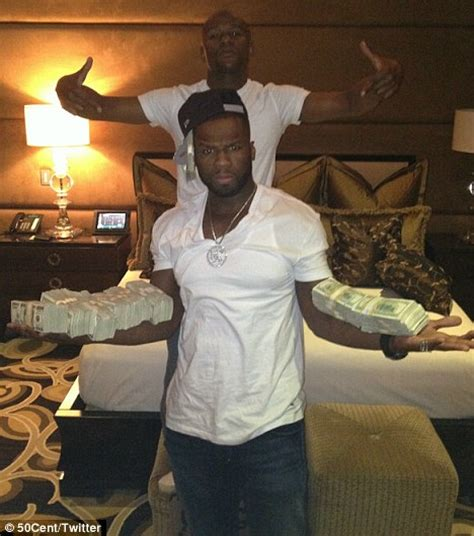 mayweather money stack floyd mayweather with 50 cent and wads of cash daily