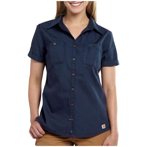 s carhartt 174 garretson work shirt navy 590669