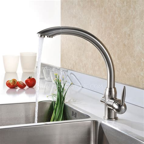 brushed nickel kitchen faucet best brass brushed nickel kitchen faucets two handle