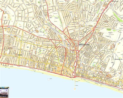 printable maps brighton map of brighton england