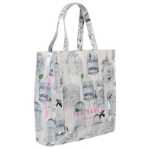 Ted Baker Canvas Printed Tote Bag by Ted Baker Cagecon Birdcage Printed Icon Tote Bag Multi