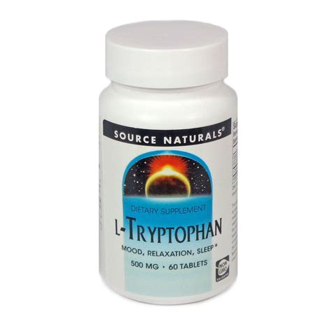 supplement l tryptophan l tryptophan 500mg by source naturals 60 tablets