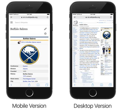 mobile version how to view the desktop version of a website in ios 9 safari