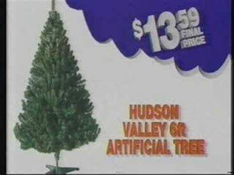 hudson bay christmas tree ads caldor commercial 1995
