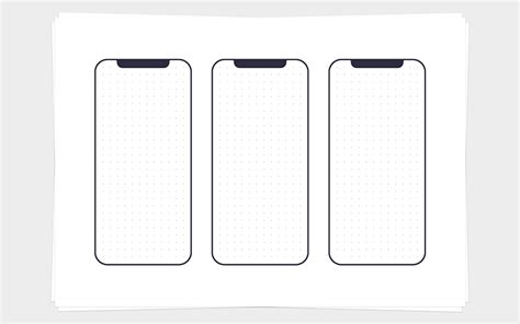 Printable Wireframe Templates Ui Ux Assets Iphone Wireframe Template
