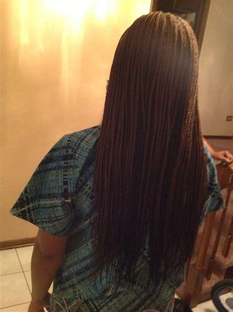 Straight Long Individual Braids Hairstyles | straight long single braids pinterest