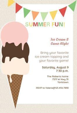Ice Cream   Pool Party Invitation Template (Free