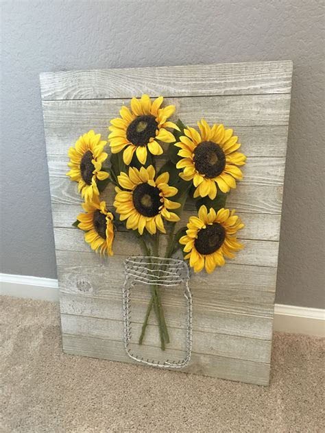 sunflowers decorations home sunflower string art bouquet kitchen decor ideas for a