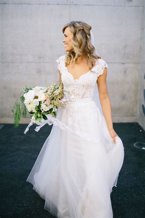 17 Best ideas about Lace Top Wedding Gowns on Pinterest