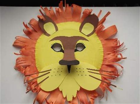 How To Make Paper Plate Masks - craft animal paper plate masks