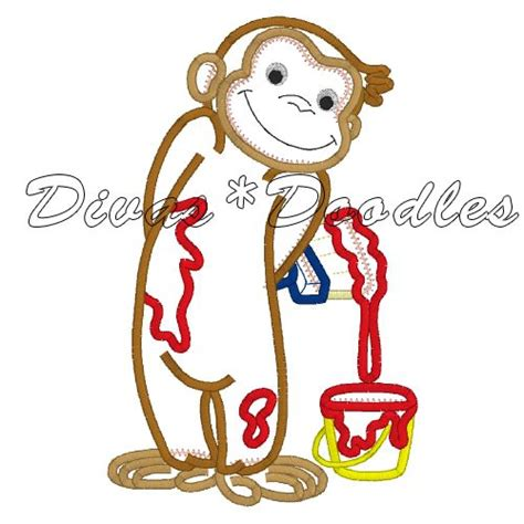 painting curious george curious george monkey painting applique pictures