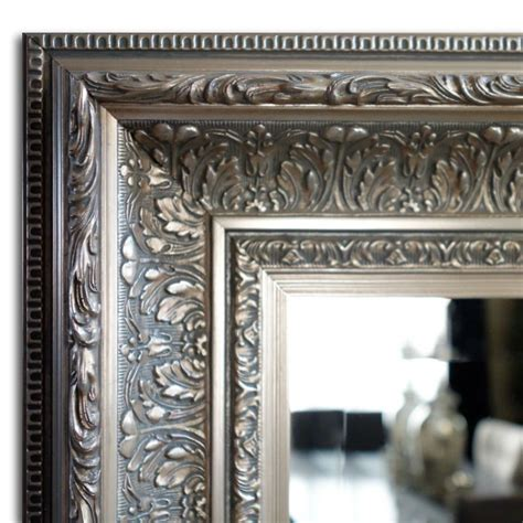 silver framed bathroom mirror elegance wall framed mirror bathroom vanity mirror