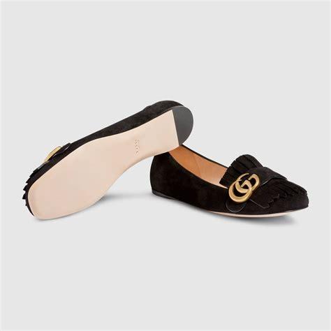 Flat Gucci suede ballet flat gucci s ballerina flats 453373c20001000