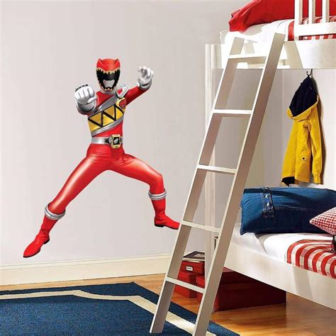 power rangers bedroom decor power rangers dino charge red decal removable graphic wall