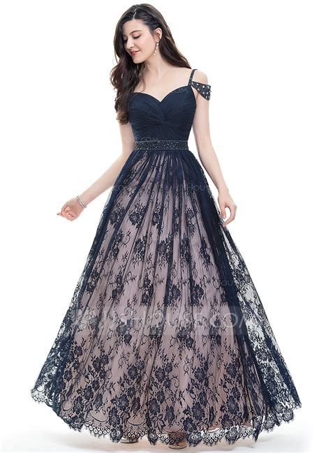 dress with beading gown sweetheart floor length lace prom dress with